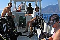 Tauchboot der Alor Divers