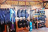Innenansicht der Tauchbasis im Bali Villa Dive Resort