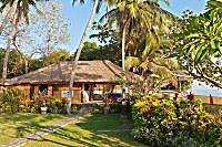 Blick auf die Tauchbasis im Bali Villa Dive Resort