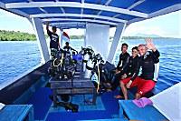 Tauchboot des Bastianos Bunaken Dive Center