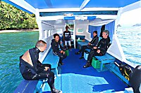 Tauchboot des Bastianos Lembeh Dive Center