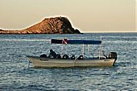 Tauchboot im Cabo Pulmo Nationalpark