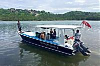 Tauchboot der Ceningan Divers