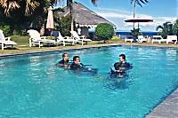 der Swimmingpool wird auch mit für die Tauchausbildung genutzt