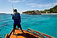 Bootsanleger vom Gangga Island Resort & Spa