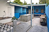 Füllstation und Waschbecken