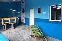 Halboffener Außenbereich der Maldivica Divers