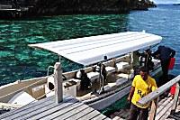 Tauchboot des Misool Eco Resort