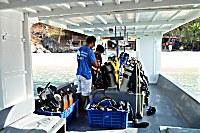 Tauchboot des Murex Bangka Resort