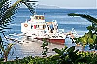 Tauchboot der Pintuyan Tauchbasis