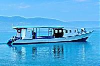 Tauchboot des Thalassa Dive Center