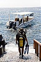 Einstige ins Tauchboot