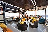Lounge auf dem Vorderdeck
