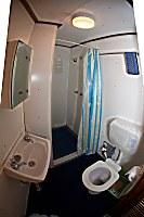 Badezimmer einer Kabine