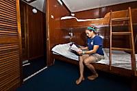 Kabine mit Doppelbett