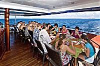 Halboffenes Restaurant der Carpe Vita