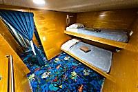 Größere Kabine mit Stockbett
