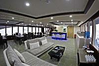 Loungebereich auf dem Hauptdeck