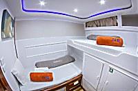 Unterdeck Zweibettkabine mit Stockbetten