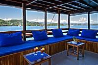 Lounge auf dem Achterdeck