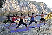 Yoga vor besonderen Kulisse