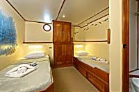 Kabine 5 mit zwei Einzelbetten