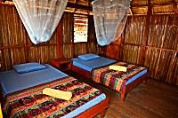 Bungallow von innen im Atauro Dive Resort