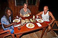 Abendessen im Atauro Dive Resort