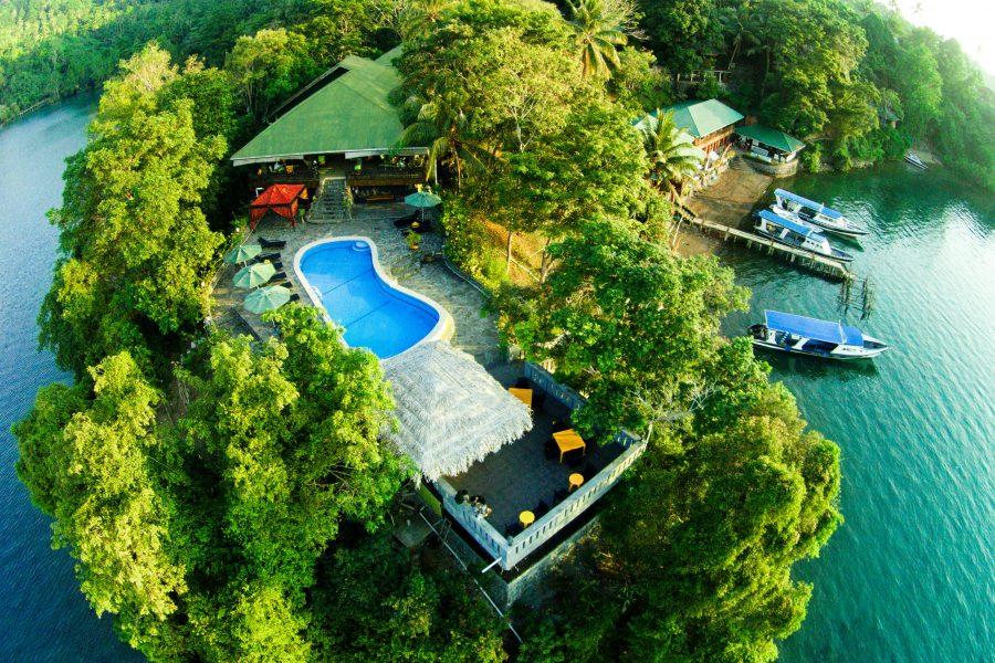 Bastianos Lembeh Resort aus der Vogelperspektive