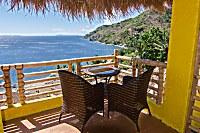 traumhafter Ausblick vom Balkon der Sea View Deluxe-Zimmer