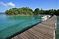Bootsteg des Nabuccos Cape Paperu Resort & Spa