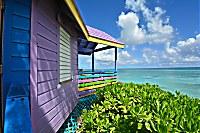 Seafront Huts mit tollen Meerblick