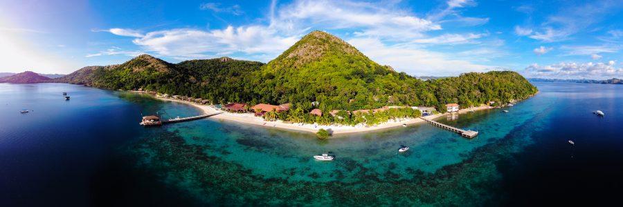 Panorama-Aufnahme des El Rio y Mar Resorts