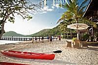 am Strand des Resorts stehen Sport und Spaß im Vordergrund