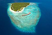 Filitheyo Island Resort aus der Vogelperspektive