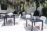 Freiluft-Restaurant im Holiday Cottage