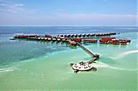Kapalai Island Resort auf Stelzen