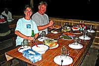 Abendessen im Kri Eco Resort