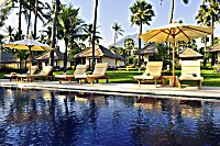 Swimmingpool des Kubu Indah Dive & Spa Resorts
