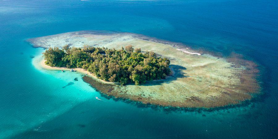 Lissenung Island Resort aus der Vogelperspektive