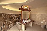 Badezimmer eines Deluxe Cottage