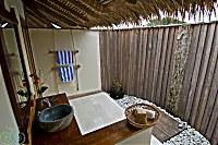 Badezimmer eines Water Cottage