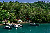 NAD Lembeh Resort vom Meer aus