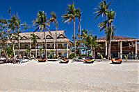 Blick auf das Ocean Vida Beach & Dive Resort vom Meer