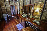 Badezimmer im Wasserbungalow