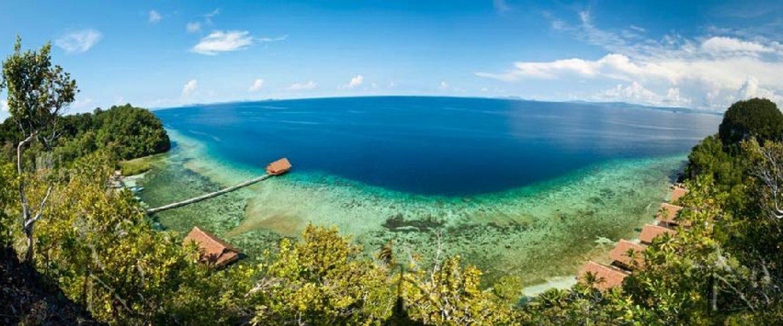Raja4Divers Resort aus der Vogelperspektive