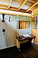 Badezimmer eines Bungalows