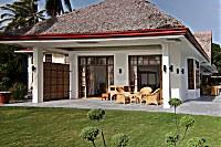 Blick auf die Terrasse eines Pacific King Doppelzimmers