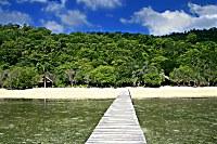 Steg des Selayar Dive Resort