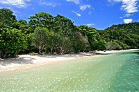 Strand des Selayar Dive Resort